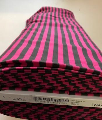 ♥STREIFEN♥ 0.5m JERSEY taupe pink RINGEL