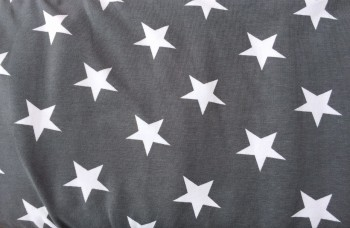 ♥SUPERSTARS♥ 0.5 (!) m JERSEY grey big STARS
