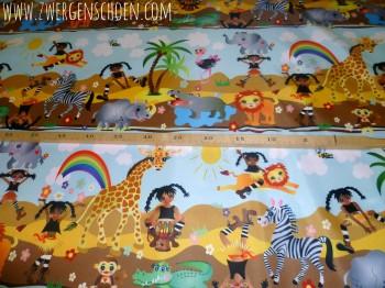 ♥AFRIKA-LANDSCHAFT♥ 0.5m NYLON Landscape AFRICA