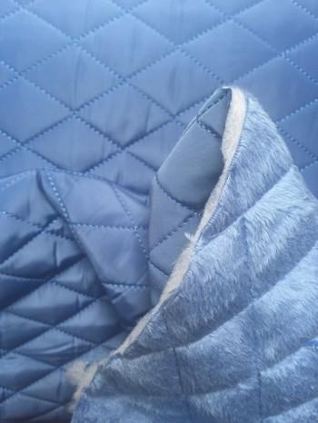 ♥STEPPER♥ 0.5m JACKENSTOFF blau 2in1