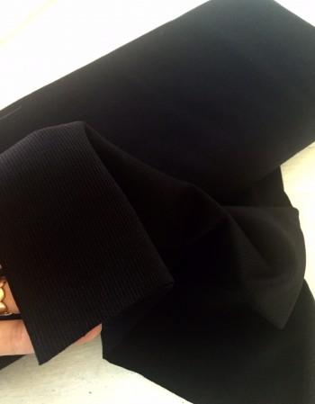 ♥UNI-Bündchen♥ 0.25m BLACK Strick SCHWARZ Schlauchware