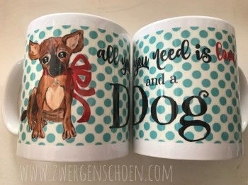 ♥BLESS♥ Tasse ALL YOU NEED IS LOVE AND A DOG 0.3L