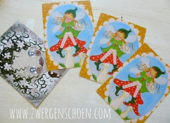 ♥TINKA BELLA MUSHROOM FAIRY♥ Postcard SET of 3