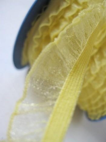♥RUFFLes♥sun YELLOW elastic RIBBON