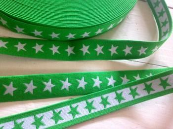 ♥SUPERSTARS♥ elastic RIBBON rubber GREEN price per meter