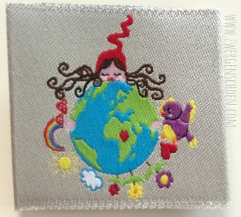 ♥MILLI´s HEILE WELT♥ Webetikett SAVE THE PLANET Erdentochter