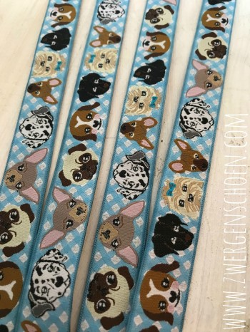 ♥WUFFz♥ Ribbon DOGS Vichy BLUE