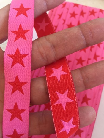 ♥SUPERSTARS♥ pink red RIBBON Price per METER