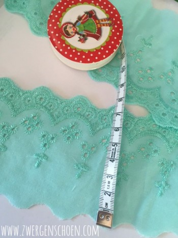 ♥LINGERIE♥ ribbon COTTON mint 7cm SHABBY CHIC