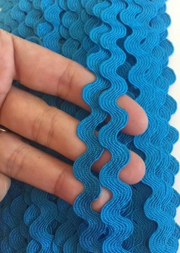 ♥RIC RAC RIBBON♥ TURQUISE blue 0.7cm Price per METER