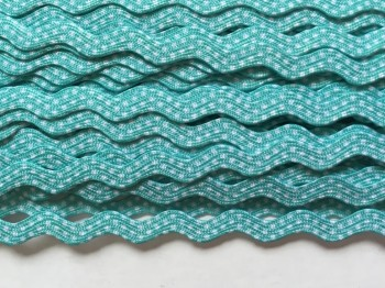 ♥RIC RAC RIBBON♥ little DOTS mint PRICE per METER