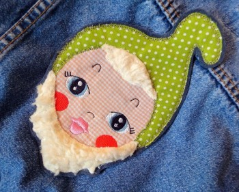 ♥GNOM HEAD♥ Embroidery FILE Applique 13x18cm