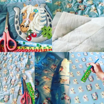 ♥MON CHERI♥ 0.5m NYLON Haflingerin PONY Wispering BLUE