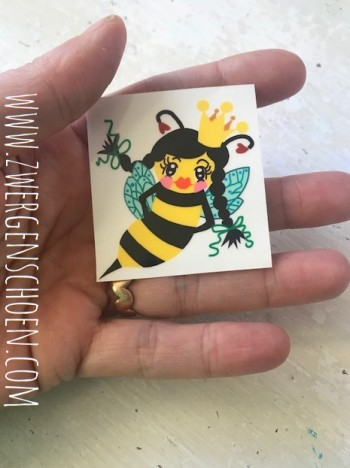 ♥BEE Queen♥ BIENENKÖNIGIN Aufkleber BIENE transparent 5cm