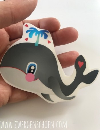 ♥WILLY♥ Aufkleber TRANSPARENT Save the Whales 9,5cm