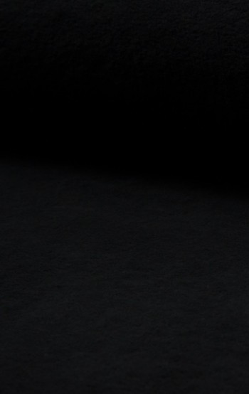 ♥BAUMWOLL-Fleece♥ 0.5m COTTON FLEECE schwarz
