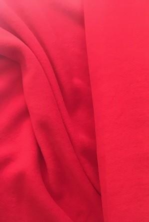 ♥BAUMWOLL-Fleece♥ 0.5m COTTON FLEECE rot