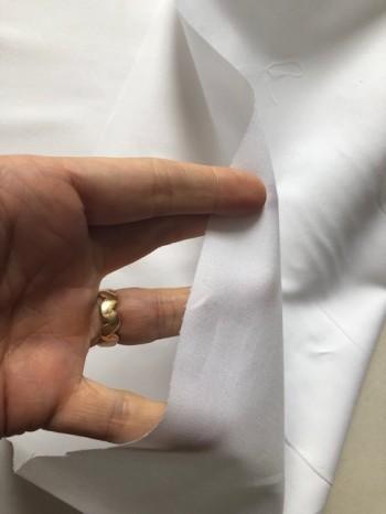 ♥UNI-BAUMWOLLE♥ 0.5m WEBWARE Popeline WEISS optical white