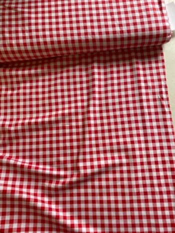♥GINGHAM♥ 0.5m JERSEY red