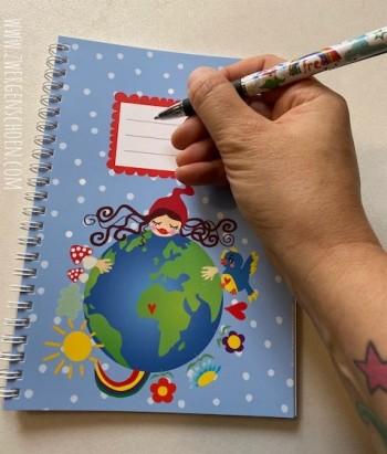 ♥SAVE MY PLANET♥ DIN A5 Schreibheft RINGBUCH A5 Spiralbindung MILLI ZWERGENSCHÖN