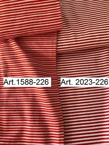 ♥CUFF♥ 0.25m STRIPES red&white PRICE per 0.25m