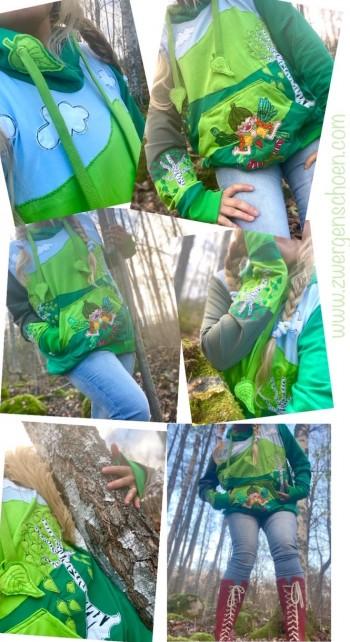 ♥OMMM Tinka Bella BIRKENFEE♥ Stickmuster BIRKENBLÄTTER Yoga FEE Birken 10x10 13x18 20x20 20x26 20x30cmcm