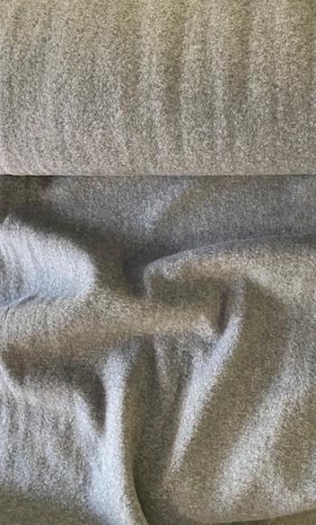 ♥BAUMWOLL-Fleece♥ 0.5m COTTON FLEECE grau MELANGE dark