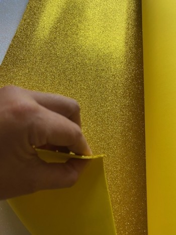 ♥FOAMY GLITTER♥ 0.25m GOLD Glitzer DEKO