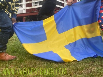 ♥SCHWEDEN♥ Sweden FLAGGE Flag STOFF 1 STÜCK 90x150cm SVERIGE