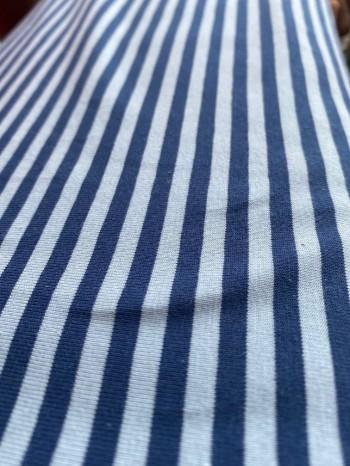 ♥RINGEL♥ 0.5m JERSEY Stripes NAVY blau/blau STREIFEN