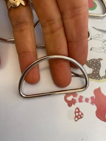 ♥D-RINGE geschlossen♥ Taschenzubehör 5cm Nickel