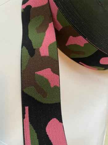 ♥GUMMIBAND♥ Camouflage FLECKTARN 4cm ARMY pink GREEN Brown