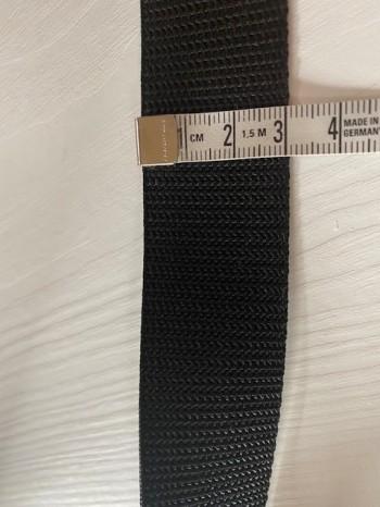 ♥GURTBAND♥ 3cm BREIT schwarz METERWARE