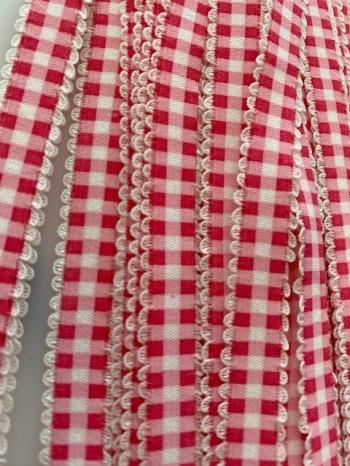 ♥VICHY♥ pink elastic RIBBON
