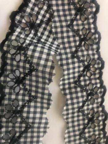 ♥LINGERIE♥ Ribbon VICHY XL Black Beauty PRICE per METER