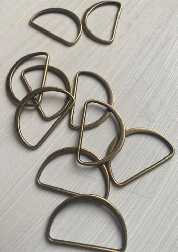 ♥D-RINGE geschlossen♥ METALL brass 4cm Taschenzubehör