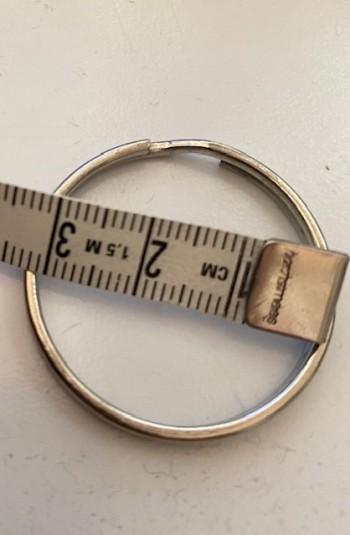 ♥SCHLÜSSELRINGE♥ 3cm DURCHMESSER Silberfarben