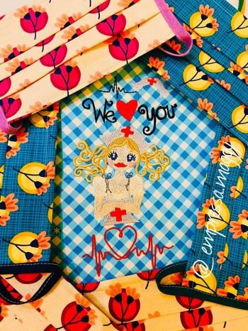 ♥SISTA ROSIE♥ Stickmuster KRANKENSCHWESTER +Schriften 10x10 13x18 20x20cm