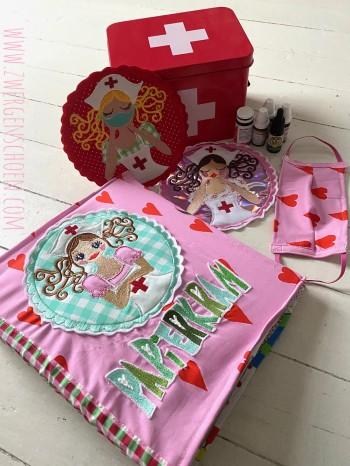 ♥SISTA ROSIE♥ Embroidery File-Set NURSE Hospital 10x10 13x18 20x20
