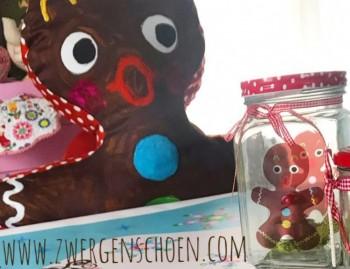 ♥LEBKUCHENMANN♥ Ginger AUFKLEBER auf TRANSPARENT 9cm