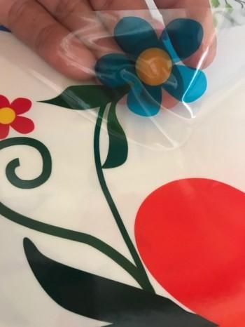 ♥HERZ-ORNAMENT-AUFKLEBER♥ Transparent ca. 15x20.5cm