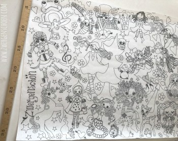 ♥PACKPAPIER♥ 35cm NIMMERLAND Einpackpapier