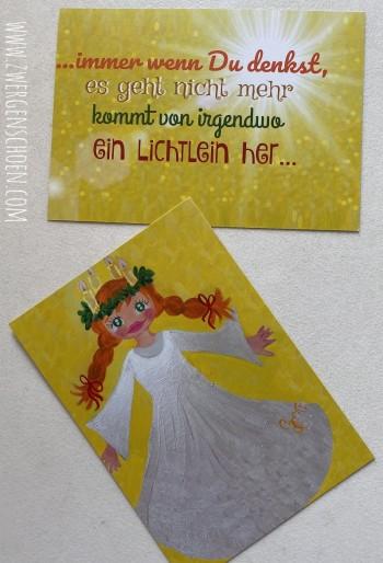 ♥ST. LUZIA♥ 3-D GRUSSKARTEN-SET 6Stück LICHTERFEE Schweden SONDERPREIS!!!