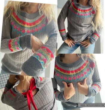 ♥(ICELAND)MUSTERSCHoeN♥ Embroidery HANDMADE knitting PATTERN 10x10 13x18 18x30cm