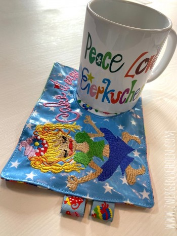♥MUG RUG♥ Embroidery FILE-Set INtheHOOP 13x18cm