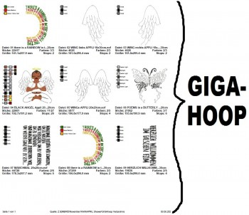 ♥APRIL Shower♥ TRAUER Stickmuster 10x10 13x18cm + GIGAhoop