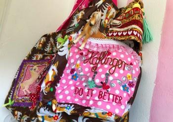 ♥MON CHERÌ♥ Embroidery FILE-Set PONY Haflinger FABRIC STAR 10x10 13x18 20x30cm