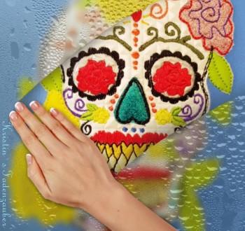 ♥VIVA LA VIDA♥ EMBROIDERY Artwork MEXICO 10x10 13x18 20x20 20x26 18x30cm
