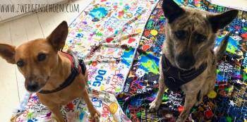 ♥WUFFz on GRAFFITISCHÖN♥ 0.5m JERSEY Hunde LIGHT