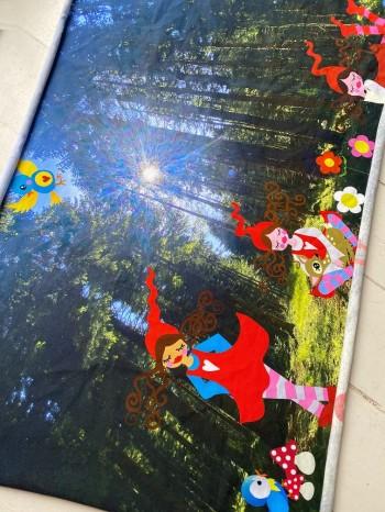 ♥MILLI im FRANKENWALD♥ Stoffpanel JERSEY Blumen 48x77cm